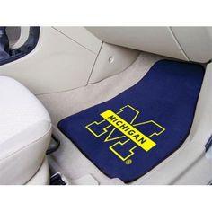 Michigan Wolverines NCAA Car Floor Mats (2 Front)