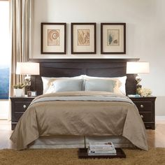 It takes a great headboard to really show the grandeur of a master bedroom.
