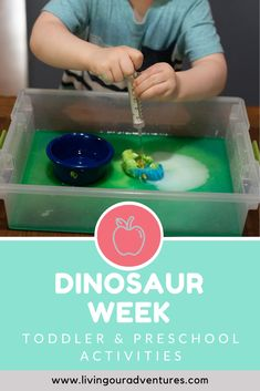 Dinosaur Week in Tot School is loaded with fun, hands-on Dinosaur Themed activities to help your toddler, preschooler, or kindergartener build math and literacy concepts. Toddler Gross Motor Activities, Fun Activities For Toddlers, Phonics Activities, Interactive Activities, Kindergarten Activities, Toddler Preschool, Toddler Crafts, Book Activities, Build Math