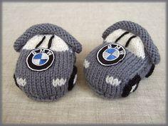oxana's BMW car baby booties.