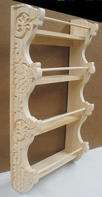 Decorative wood shelves