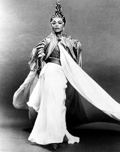 "eartha kitt | Eartha Kitt in the play ""Timbuktu!"". Geoffrey Holder's original costume for Eartha. She later opt for Bob Mackie gowns instead ... This caused the ""great divide"" between them that never healed.."