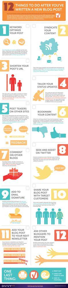 Kaj je potrebno postoriti, ko zapišemo novo objavo na blogu. Enaka pravila veljajo tudi za ostale spletne strani, spletne trgovine.  LikeTweet