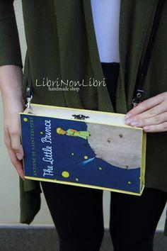 BOOK CLUTCH The Little Prince BAG Shoulder bag faux leather strap by LibriNonLibri on Etsy