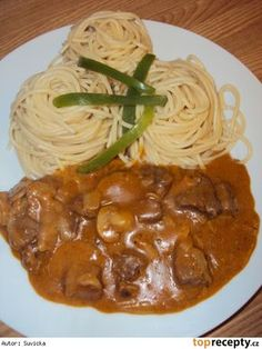 Stroganoff podle dědy šéfkuchaře Simply Recipes, Top Recipes, Quick Recipes, Meat Recipes, Vegetarian Recipes, Cooking Recipes, Czech Recipes, Ethnic Recipes, Best Food Ever