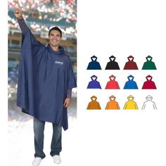 Show your pride with The Billboard Poncho! This medium weight rain poncho is waterproof. One size fits most. Rain Poncho, Hooded Poncho, Waterproof Poncho, Rain Gear, Trade Show, Cool Suits, Billboard, Outdoor Events, Ponchos