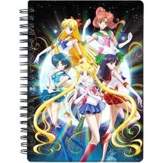diy Sailor Moon Crystal 5 members notebook - diy sailor moon crystal notepad
