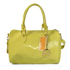 Michael Kors Embossed leather Medium Yellow Satchels