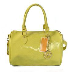 Michael Kors Embossed leather Medium Yellow Satchels