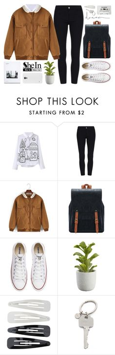"""""""It's like I'm reuniting pieces while the entire wall is falling down   SheIn 4"""" by alexandra-provenzano ❤ liked on Polyvore featuring Converse, Crate and Barrel, Forever 21 and Paul Smith"""