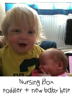 Nursing box - a way to help with the nursing of a newborn with a toddler in the house