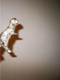 marija knezevic * Dino en papier alu - dinosaurus van aluminiumfolie