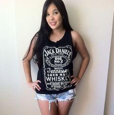 Regata Jack Daniels - Garota DreadLocks