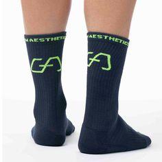 Sport Socks, Lycra Spandex, Gym Wear, Free Gifts, Athlete, Navy, Female, Heels, Green