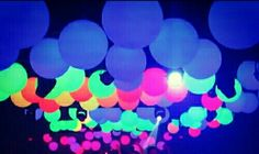 Wedding Send Off: Put glow sticks inside of balloons and have guests release.