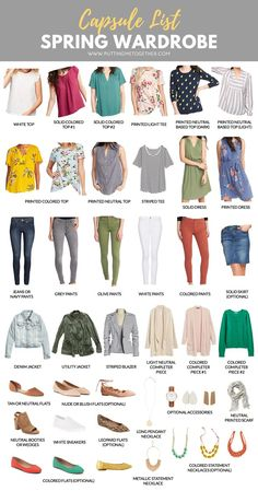 Spring Capsule Wardrobe: Dressy-Casual Style and Full of Color Spring Capsule Wardrobe: Elegant-lässiger Stil und voller Farbe Capsule Wardrobe 2018, Capsule Outfits, Fashion Capsule, Mode Outfits, Kohls Outfits, Capsule Clothing, 50s Outfits, Dressy Outfits, Dress Casual