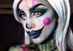 Pastel Clown Wearing the amazing @camoeyes.com_ contacts And @litcosmetics Glitters in Superfly and Afternoon Delight!!