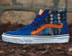 online store 58a21 3d6bd Vans Sk8-Hi – True Blue – Orange – Inca Blue And White Vans,