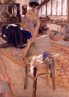 "Édouard Vuillard I have admitted on more than one occasion that Pierre Bonnard may just be my favorite ""Modern"" painter. Edouard Vuillard, Paul Gauguin, Figure Painting, Painting & Drawing, Beaux Arts Paris, Art Français, European Paintings, Post Impressionism, Renoir"