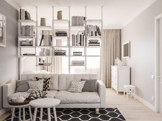 Studio-Apartment Dekorieren 2425 Likes 24 Kommentare DI Some great ideas or themes for Christmas hom Studio Apartment Layout, Small Apartment Interior, Small Studio Apartments, Condo Interior, Small Apartment Design, Studio Apartment Decorating, Interior Livingroom, Interior Modern, Interior Paint