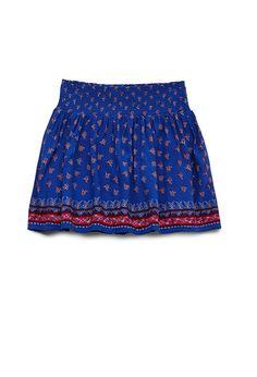 Smocked Floral Skirt (Kids)   FOREVER21 #F21Girls #Juniors