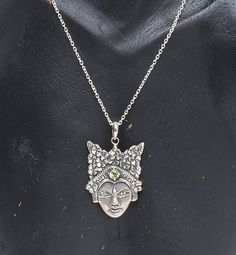 Peaceful Divinity - Handcrafted .925 sterling pendant from Bali. #bali #balinese #handcrafted #silverart #sterlingsilver