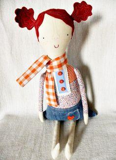 Kra Kra Crafts Handmade Recycled Eco-Friendly Girls Dolls