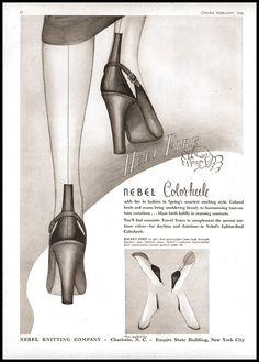 Risultati immagini per nebel hosiery Vintage Advertisements, Vintage Ads, Vintage Photos, Retro Lingerie, White Lingerie, Vintage Stockings, Nylon Stockings, Nylons, Chic Et Choc