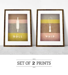 Kitchen art. Set of 2 PRINTS. Kitchen print. by LatteDesign, $25.00