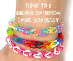 single rainbow loom bracelet
