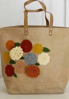 diy felt flowers bag