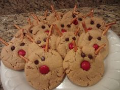 Reindeer Peanut Butter Cookies ~ My Own Blog Review