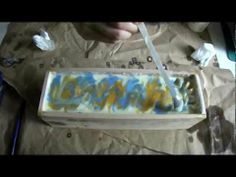 "Making ""Typhoon's coming"" soap with whisk swirl and cutting - YouTube"