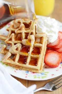 These multigrain waffles are as soft and fluffy as my favorite Belgian waffles-- but a lot more nutritious!