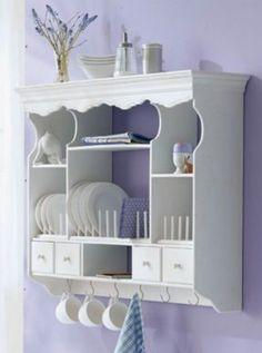 white shabby chic kitchen hanging cabinet - I need one of these Shabby Chic Kitchen Cabinets, Kitchen Decor, Kitchen Design, Shabby Chic Style, Shabby Chic Decor, Shabby Chic Furniture, Diy Furniture, Hanging Cabinet, Country Kitchen