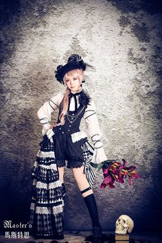 Classical Puppets-Mater's Black Lily-Ouji Lolita Vest and Pants - My Lolita Dress