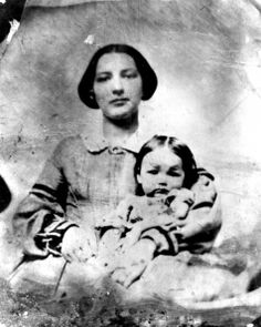 Sophia Josephine Huggins and her daughter, Letta. Taken captive by Dakota Indians in 1862.