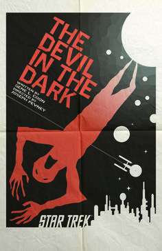 Star Trek Art Print Devil in the Dark. I want this framed and hanging in my living room.