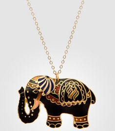 Sri Lanka Fancy Elephant Necklace from Fred Flare (http://www.fredflare.com/ACCESSORIES-jewelry/Sri-Lanka-Fancy-Elephant-Necklace/)