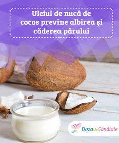 Uleiul de nucă de cocos previne albirea și căderea #părului  Pe lângă faptul că hrănește podoaba capilară, #aplicarea topică a uleiului de nucă de cocos menține culoarea părului, combate infecțiile și #inflamațiile, previne căderea firelor și stimulează creșterea acestora. Citește în continuare pentru a #descoperi care sunt principalele beneficii pentru păr oferite de uleiul de nucă de cocos.