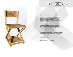 """Check out new work on my @Behance portfolio: """"THE  X CHAIR tech. Design Process"""" http://be.net/gallery/40736971/THE-X-CHAIR-tech-Design-Process"""