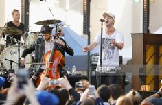Brent Kutzle and Ryan Tedder of One Republic perform on NBC's 'Today' at Rockefeller Plaza on May 2, 2017 in New York City.