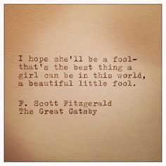 Great Gatsby Quote Typed on Typewriter by farmnflea on Etsy, $9.00