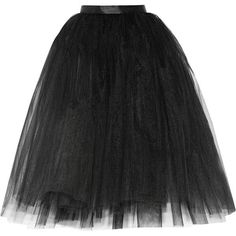 Ballet Beautiful Tulle skirt ($165) ❤ liked on Polyvore featuring skirts, bottoms, gonne, black, black layered skirt, fitted skirts, tulle ballet skirt, knee length tulle skirt and black ballet skirt