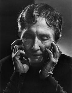Helen Keller 1948 by Yousuf Karsh