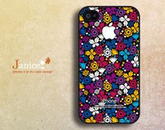 iphone 4s case black iphone case iphone 4 cover sweet colorized classic white purple flower unique Iphone case. $13.99, via Etsy.