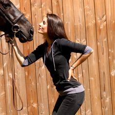 Sweat Sportswear équitation Alexandra Ledermann Sportswear : Bebop Noir / Gris