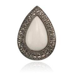 BOHEMIAN BARDOT RING - MILKY WHITE