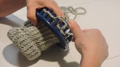 Loom Knit Fingerless Mittens                                                                                                                                                                                 More