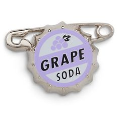 Russell's Grape Soda Bottlecap Pin  	  	Russell's Grape Soda Bottlecap Pin
